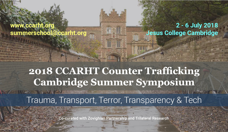 CCARHT Counter Trafficking Cambridge Summer Symposium, Jesus University