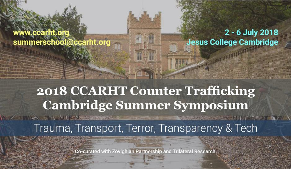 CCARHT Counter Trafficking Cambridge Summer Symposium, Jesus University
