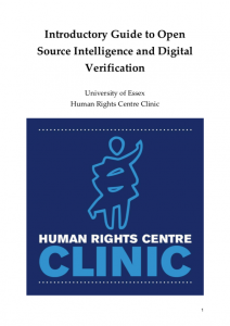 Introductory Guide to Open Source Intelligence and Digital Verification