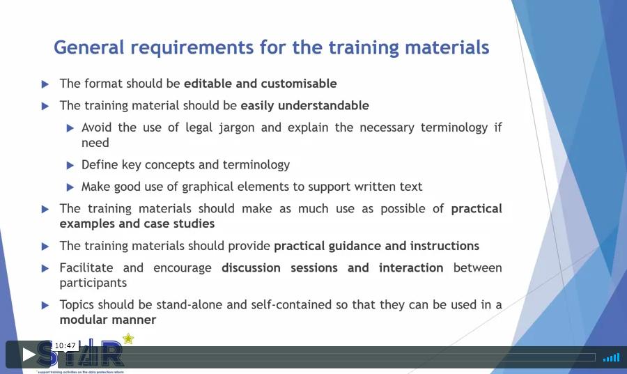 GDPR Training material